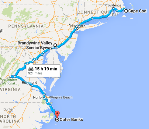 Northeast Road Trip >> The 5 892 Mile Epic American Road Trip
